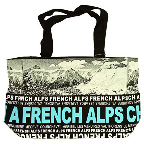 Sac Shopping Photo 'Les Alpes' Robin Ruth - Noir