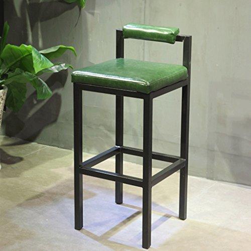 Tabourets simples de barre de fer forgé de mode, tabourets occasionnels modernes, chaise créatrice de loisirs (Color : Green)