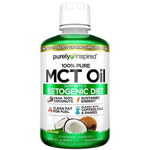 MCT Oil | Purely Inspired Pure MCT Oil Keto | Sourced from Coconut Oil, non-GMO | Supports Keto &...