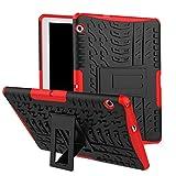 Skytar Funda para Huawei MediaPad T3 10,Hybrid Dura Layer Protección de Policarbonato Duro + TPU Silicona Protección Cover Carcasa para Huawei MediaPad T3 10 de 9,6 Pulgadas Tablet Funda,Rojo
