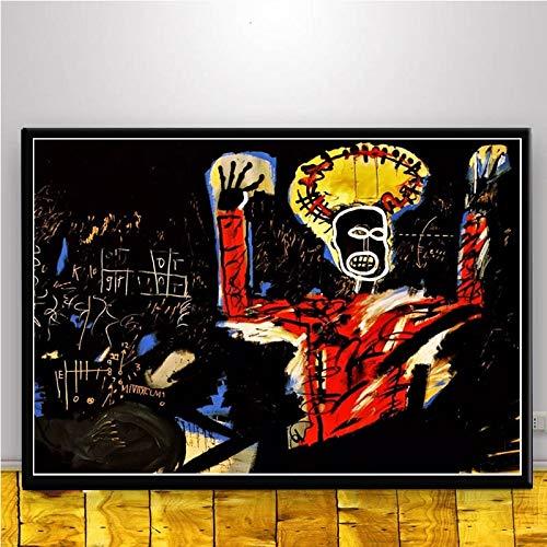 MJKLU gameBlack Dirty Braid Boy Cosmic Art Urban Graffiti Lienzo Pintura Carteles y murales de Grabado para decoración del hogar en Art Deco 65X85CM