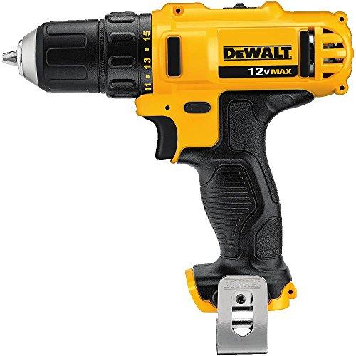 DEWALT 12V MAX Cordless Drill, 3/8-Inch, Tool Only (DCD710B)