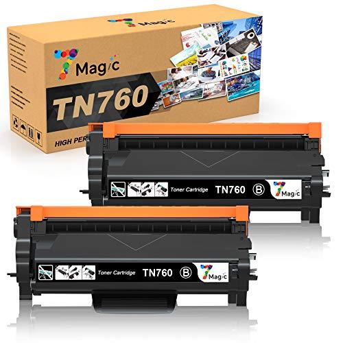 7Magic Compatible Toner Cartridge Replacement for Brother TN760 TN730 TN-760 TN-730 for DCP-L2550DW HL-L2350DW HL-L2370DW HL-L2370DWXL HL-L2370DW HL-L2390DW HL-L2395DW MFC-L2710DW (Black)