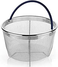 Steamer Basket for 8 Qt Pressure Cooker, fits Instant Pot 8 Quart, Ninja Foodi and Other, IP Stainless Steel Insert with Silicone Covered Handle