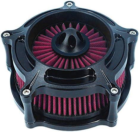 Luftfilter Motorrad Air Cleaner Intake Turbine Filter Cnc Cut Kit Black Für Harley Dyna 2000 2017 Softail 2000 2015 Touring 2000 2007 Einbau Design B Rot Auto
