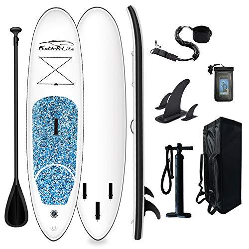 FunWater SUP Stand Up Paddle Board hinchable 305 x 76 x 15 cm, accesorios completos, remo ajustable, bomba, mochila de viaje, correa, bolsa impermeable, hasta 100 kg de capacidad de carga