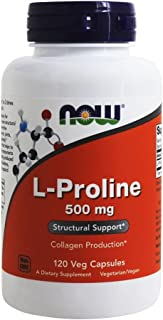 L-Proline 500 mg - 120 Veg Capsules by NOW
