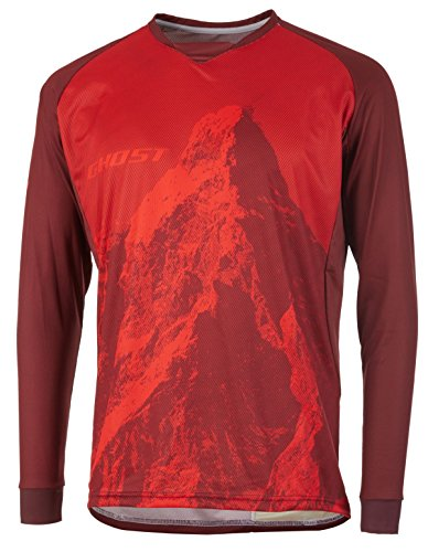 Ghost MTN Ride Line Jersey Long (L, rot)