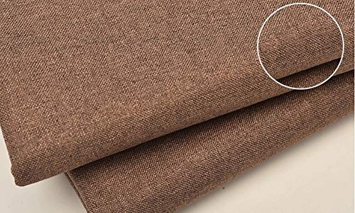 SJIAMJJ Linen Fabric Linen Look Fabric for Wedding Home Decor Curtains Sheer Curtain Net Soft Plain Curtain Sofa Upholstery Fabric Material Drapes Blinds Curtains Cushions Sold by The Metre