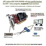 Epic IT Service - ATI Radeon HD 3450 for Dual Monitor Setup (Half Size Bracket, DMS-59 to Dual VGA Adapter)