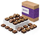 Fairytale Brownies SUGAR-FREE Magic Morsel 24 Gourmet Chocolate Food Gift Basket - 1.5 Inch x 1.5 Inch Bite-Size Brownies - 24 Pieces - Item CF524
