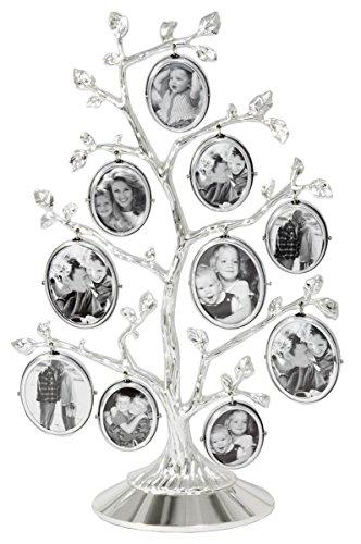 Zilverstad 7703231 Cornice Albero genealogico per 10 Foto, Lucida, chapado en Plata, Argento, 62x270x180mm