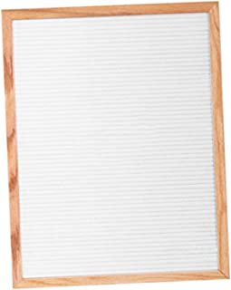 Fenteer Solid Oak Framed Felt Letter Board - Home, Office, Nursery Message Board - White, 18X12 inch