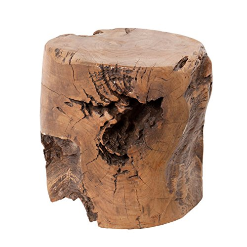 Massiver Hocker Teak Wurzelherzstück Mammutbaum Couchtisch Holztisch Massivholz