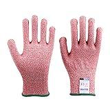 WWJL Handschuhe Schnittschutzhandschuhe Grad 5 Multicolor Küchenhandschuhe für Lebensmittel...