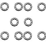 PPX Rodamiento de Bolas para Caja de Platos y bielas para Bicicleta BMX 5/16' Rodamiento Carrete Delantero 2 Piezas (5/16''x9 Ball)