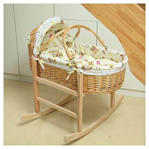 Purchase HLR-Travel Beds Crib Travel,Portable Bamboo Fiber Material Car Go Out Basket (Color : #1, S...