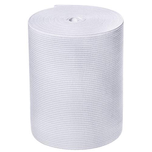White Knit Elastic Spool (4 Inch x 5 Yard)