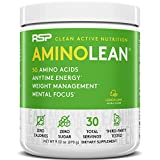 RSP AminoLean - All-in-One Pre Workout, Amino Energy, Weight Management Supplement with Amino Acids, Complete Preworkout Energy for Men & Women, Lemon Lime, 30 (Packaging May Vary)