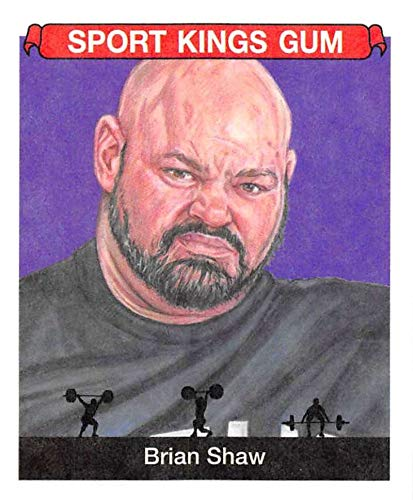 2018 Sportkings Volume One Retail Mini Multi Sport #19 Brian Shaw Strongman Collectible Retro Themed Trading Card Set From Sage