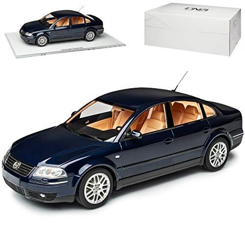 DNA Collectibles Volkwagen Passat W8 Limousine Indigo Dunkel Blau Fast Schwarz Modell 1996-2005 Version ab Facelift GP 2000 1/18 Modell Auto