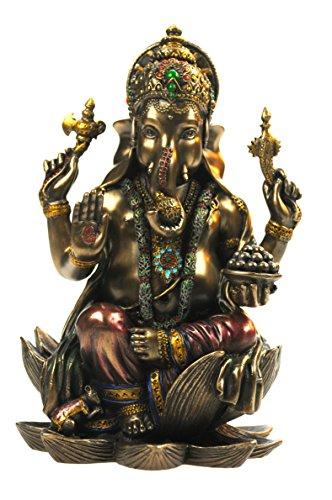 Veronese by Joh. Vogler GmbH Buddha Ganesha auf Lotusthron Feng Shui Ganesh Elefantengott Figur