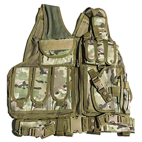 GODNECE militaire vest Airsoft tactisch vest Molle voor nerf/airsoft/camping/outdoor
