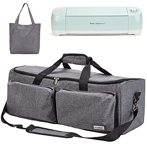 HOMEST Carrying Case Compatible with Cricut Explore Air 2, Cricut Maker, Die Cut Machine Tote, Grey (Patent Design)