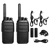 Walkie Talkies PMR Radioddity GA-2S Emisoras de Caza Sin Licencia Recargables Conexión de Carga Micro-USB, Pack 2 Unidades