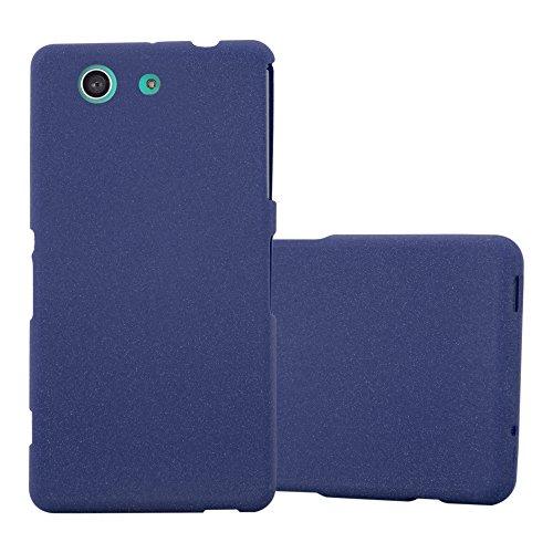 Cadorabo Hülle für Sony Xperia Z3 Compact in Frost DUNKEL BLAU - Handyhülle aus flexiblem TPU Silikon - Silikonhülle Schutzhülle Ultra Slim Soft Back Cover Case Bumper