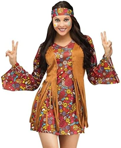 60s Hippie Fancy Robe Ladies Hippy 1960s-1970s femmes Costume Adult Outfit (16)