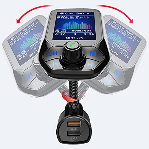 FM Transmitter Auto Bluetooth, Bluetooth FM Transmitter Unterstütz Intelligente Suche, Kfz Radio Adapter Freisprecheinrichtung mit