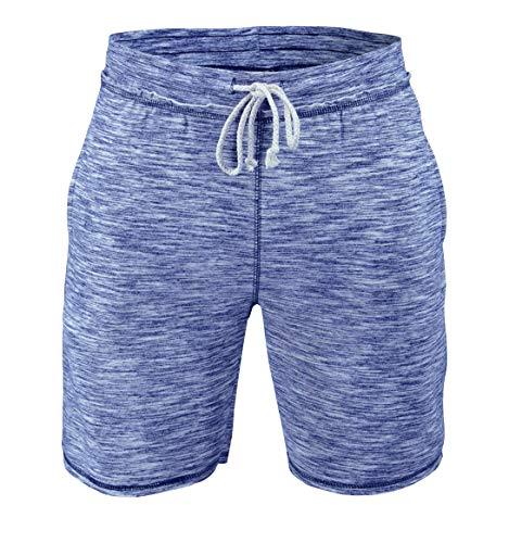 Shorts esportivos masculinos de lã para academia, Azul, Medium