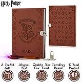 HARRY POTTER Diario Secreto Diario Secreto De Hogwarts con Candado y Llaves | Papelería Bonita para Niñas con Pluma Tinta Invisible | Regalos para Niñas o Niños