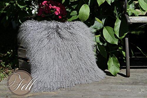 Kissen Tibet Lammfell Grau Kissenhülle ohne Inlet Stone Grey 40 x 40 cm
