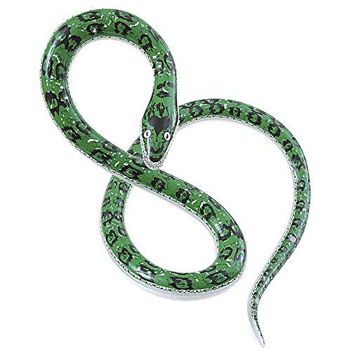 Widmann 2458S Aufblasbare Schlange, Unisex– Erwachsene, Grün, Taglia unica
