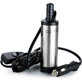 Durable 12V 38mm Electric Fuel Transfer Pump Water Oil Transfer Refueling Submersible Pump For Diesel Water Pump Car Motorbike