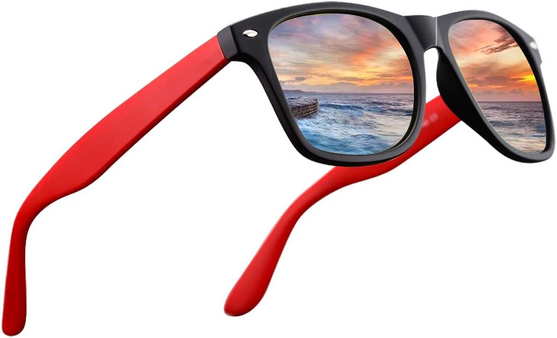 LR Unisex Classic Polarized Sunglasses Men Women Eyewear Matt Black 53mm(NCS004) (orange Lens(3))
