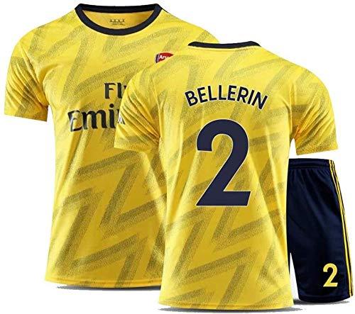 BBJOZ Héctor Bellerín # 14 Jersey Herrenfußbälle Trikot-Set in Allen Größen Kinder und Erwachsene (Farbe: Gelb Größe: Kinder-18)-Kinder-22_Gelb
