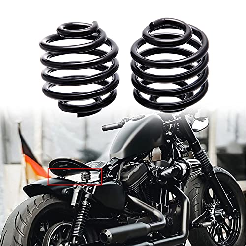 2 Inch Black Motorcycle Barrel Coiled Solo Seat Spring Bracket Hardware Mount Kit For Bobber Chopper Custom