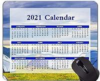2021年のカレンダーマウスパッド、休日、キャンプキャンプアドベンチャーマウスパッド