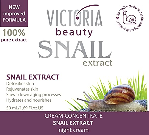 Snail Extract Intensive Night Face Cream - Tightens and firms. Deeply hydrates. Regenerates and nourishes. 50ml by Victoria Beauty