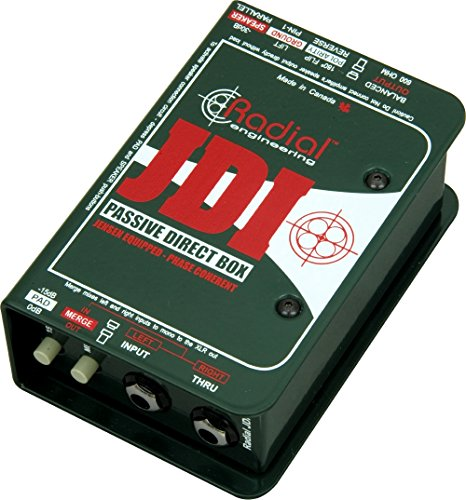 Radial Engineering R8001010JDI Single-Channel Passive Direct Box with Jensen...
