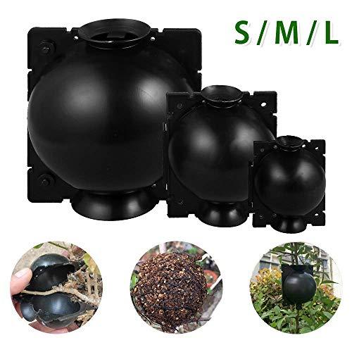 QSs-Ⓡ 3PCS Pflanzenwurzelgerät, Hochdruck-Vermehrungsball, Wiederverwendbare Pflanzenwurzelbox, Pflanzenvermehrungsset für schnelles Wurzelwachstum (S, M, L)