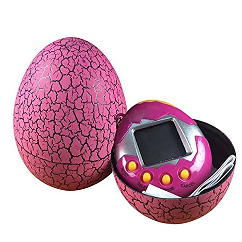 YeBetter Electronic Pets Infantil Toy Key Digital Pets Vaso Dinosaur Egg Virtual Pets Rosa roja