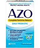 AZO Complete Feminine Balance Daily Probiotics for Women - 30 Count - Clinically Proven to Help...