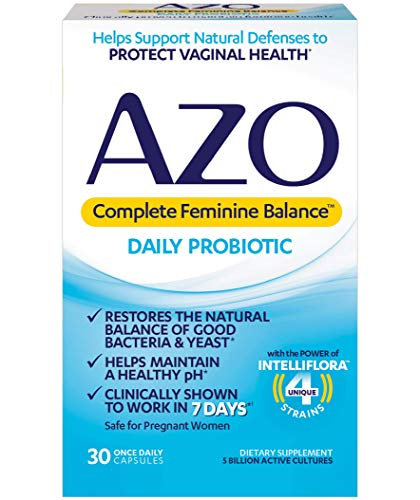 AZO Complete Feminine Balance Daily Probiotics for Women - 30 Count - Clinically Proven to Help Protect Vaginal Health - Clinically Shown to Work in 7 Days*