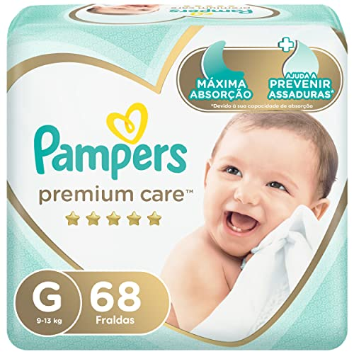 Fralda Pampers Premium Care G - 68 fraldas