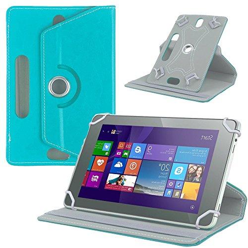 NAUC Tasche Hülle für ODYS Ieos Quad 10 Pro Schutzhülle Tablet Cover Hülle Bag Etui, Modellauswahl:Türkis 360° mit Univ. Kameraausschnitt