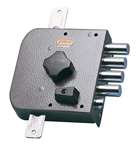 Potent 520/D Cerradura golpe y llave para barras (no incluye barras) y con bulón, derecha, Multicolor